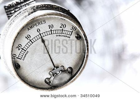 Amperes Electric Current Vintage Electrical Gauge