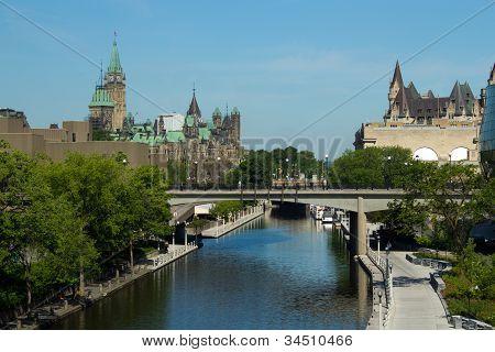 The Rideau Canal In Ottawa, Canada