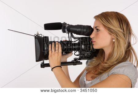 Mulher de câmera