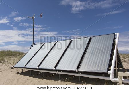 Solar panels for hot water
