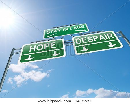 Hope Or Despair Concept.