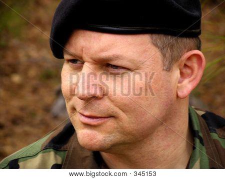 Retrato de soldado americano