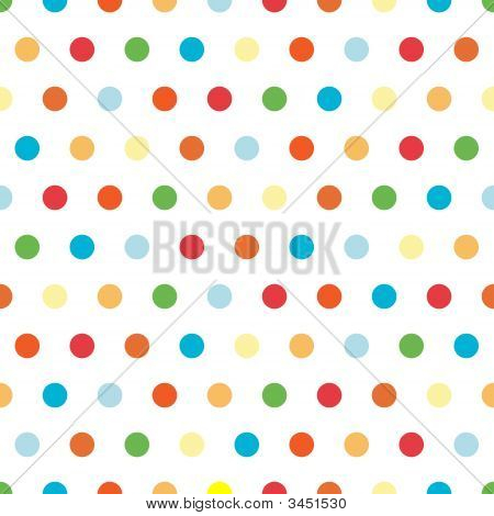 Bright Polka Dots Background