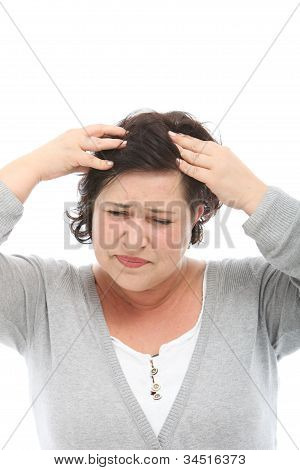 Woman With Severe Migraine