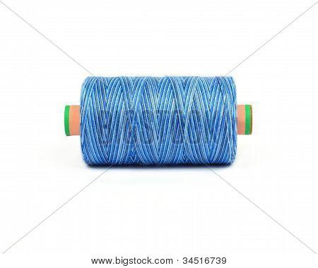 Blue Melange Bobbin Of Professional Threads