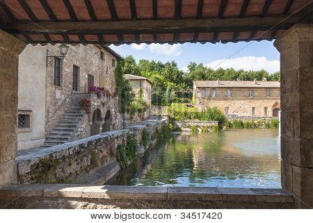 Bagno Vignoni, Toscana, Italia.
