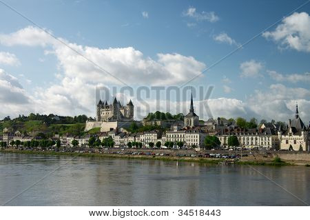 Castle of Samur over Loire