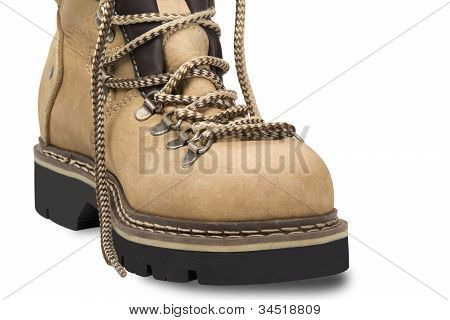 Hiking Boot On White Background