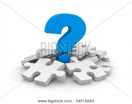 Question with puzzles. Image contain clipping path