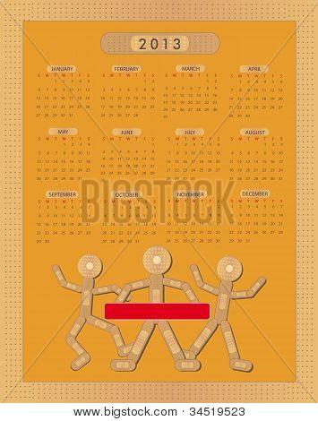 Calendario pegar yeso figura 2013