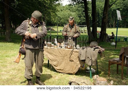 Soldiers Near Table