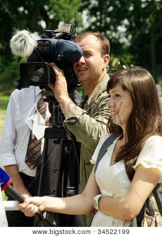 Cameraman And Correspondent
