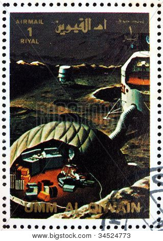 Postage stamp Umm al-Quwain 1972 Moon Base, Artist