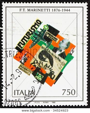 Postage stamp Italy 1996 F. T. Marinetti