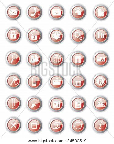Glossy Red Buttons