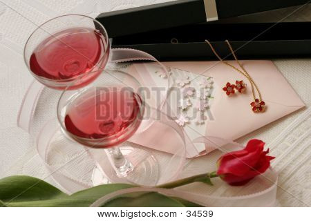 Wine Glasses And Pendant