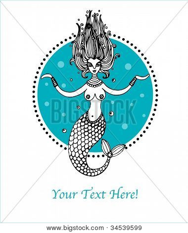 illustration with mermaid