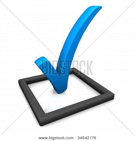 Check List Symbol Blue