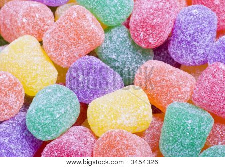 Colorful Gum Drops Candy Close Up