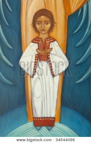 Small Jesus On Orthodox Icon