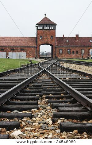 Traintracks leading to Birkenau