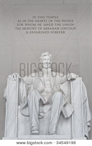 Abraham Lincoln In The Lincoln Memorial Washington Dc Usa