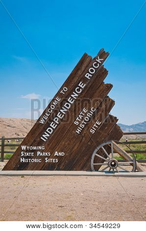 Independence Rock Sign