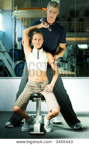 In The Gym With Trainer