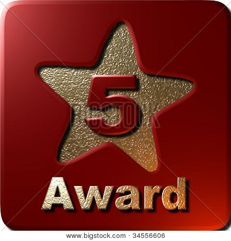 5 Star Award (red)