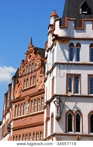 Ancient Buildings In The Old Town Of Trier