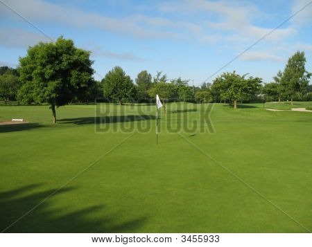 Golf Green Summer Morning
