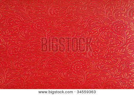 Red Ethnic Fabric Design
