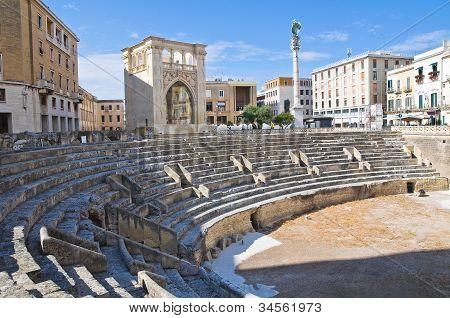 Roman Amphitheatre. Lecce. Puglia. Italy.