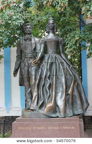 Monument To Alexander Pushkin And Natalia Goncharova
