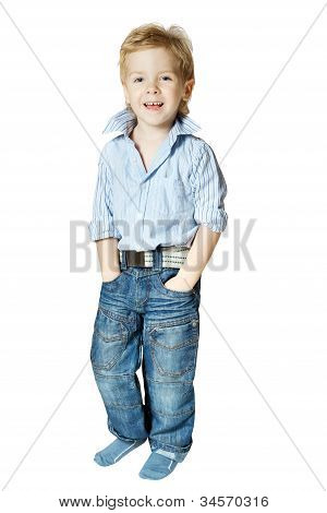 Smiling Little Boy Standing