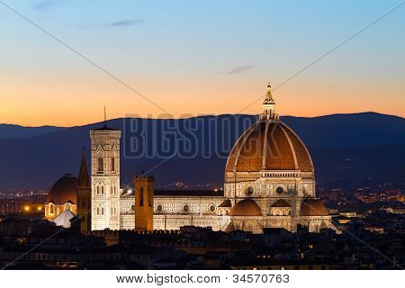 Florence Cathdral at twilight, Tuscany, Italy