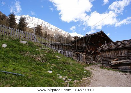 An old alpine hut