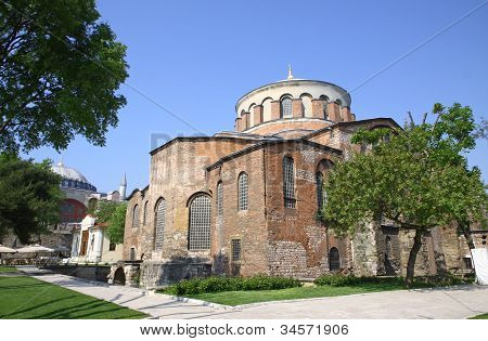 Hagia Irene Church (aya Irini) In Istanbul, Turkey