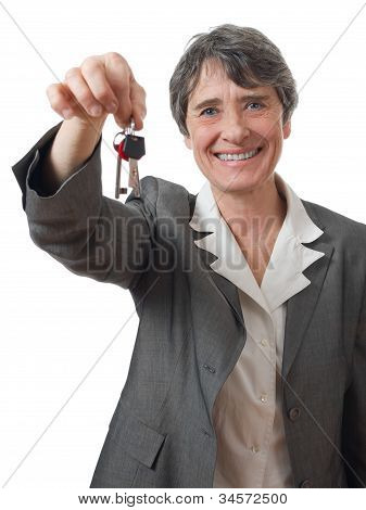 Lady With Keys