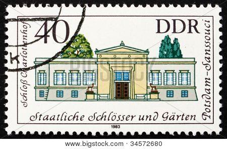 Postage stamp GDR 1983 Charlotenhoff Palace, Potsdam, Germany
