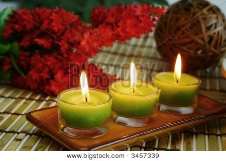 Three Yellow Candles