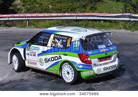 Alberto Hevia com o Skoda Fabia S2000.