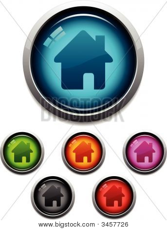 Home Glossy Icons