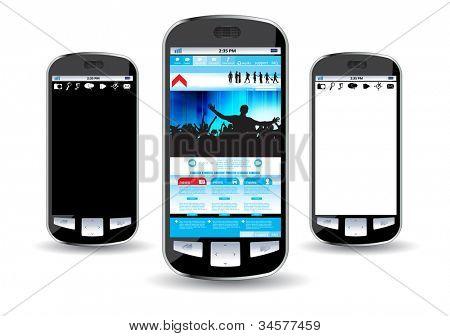 Smart phone editable vector