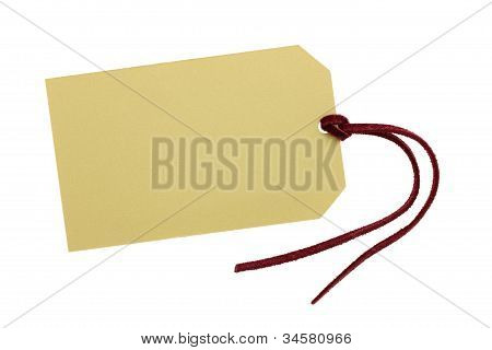 Blank tag with leather string