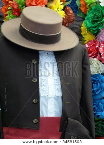 Spanish male flamenco costume
