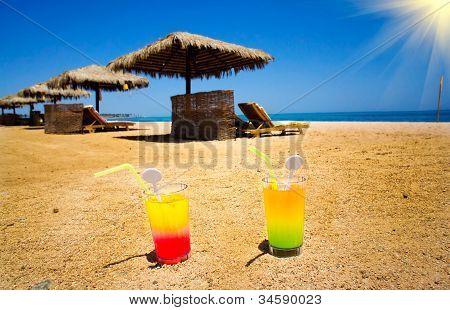 Wonderful  Beach In The Egypt.