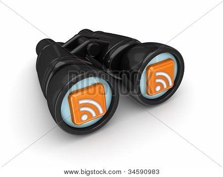 Binoculars with RSS symbols.