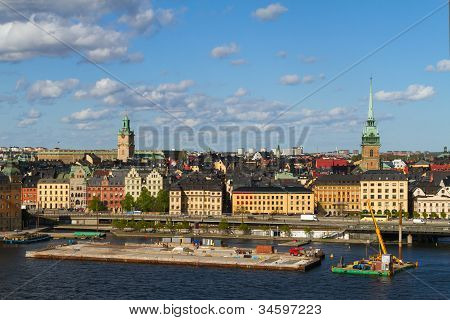 Downtown area of Stockholm