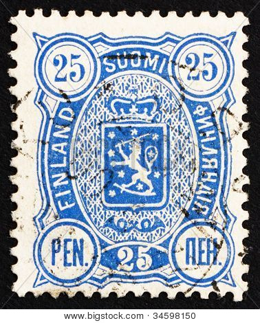 Postage stamp Finland 1895 Crowned Lion Rampant